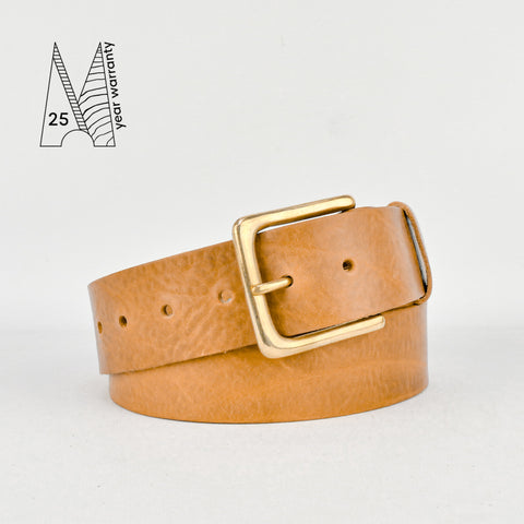 "1 3/4"" Classic Tan Leather Belt"