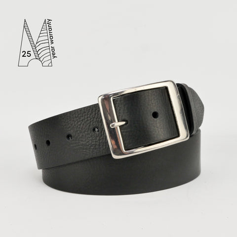 "1 3/4"" Classic Black Leather Belt"