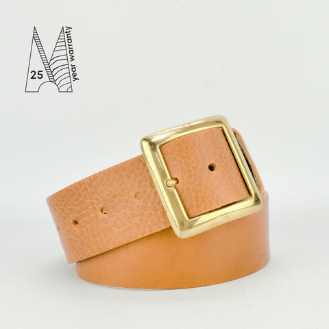"2"" Classic Tan Leather Belt"