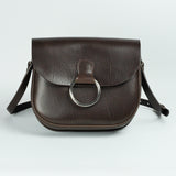 Belle Brown Leather Crossbody Bag