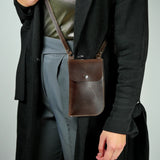 Billie Brown Leather Neck Pouch