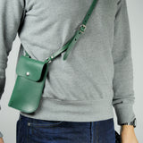 Billie Jade Green Leather Neck Pouch
