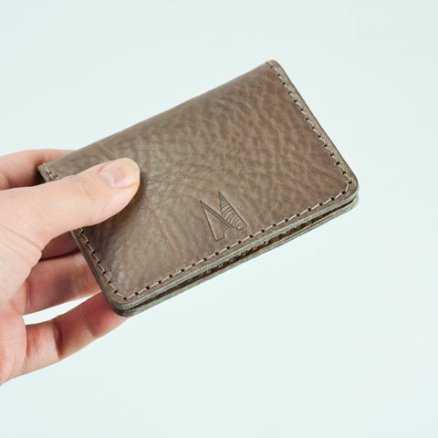 Blake Elephant Grey Leather Card Holder