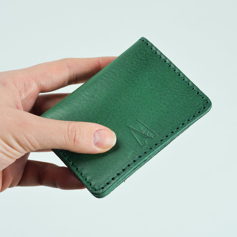 Blake Jade Green Leather Card Holder