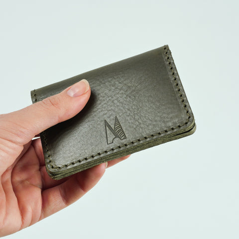 Blake Olive Green Leather Card Holder