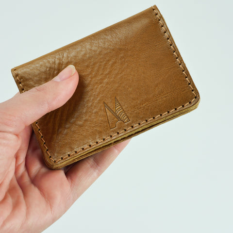 Blake Mustard Tan Leather Card Holder