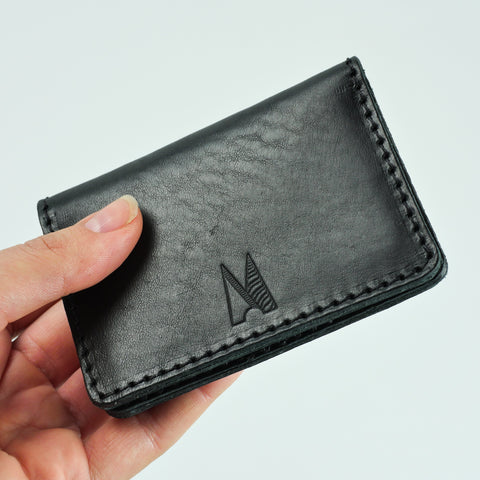 Blake Black Leather Card Holder
