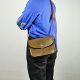 Moss Multi Tonal Leather Crossbody Bag