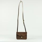 Brown Leather Envelope Clutch Bag