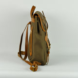 Large Brown Canvas and Leather Rucksack