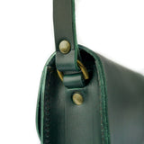 Emerald Green Leather Shoulder Bag - Roam