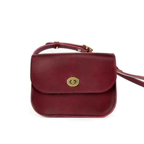 Burgundy Leather Shoulder Bag - Roam