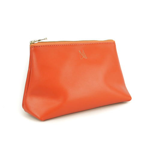 Tangerine Leather Travel Bag - Roam