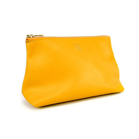 Yellow Leather Travel Bag - Roam