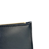 Navy Leather Wristlet Bag - Roam