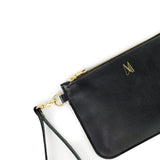Black Leather Wristlet Bag - Roam