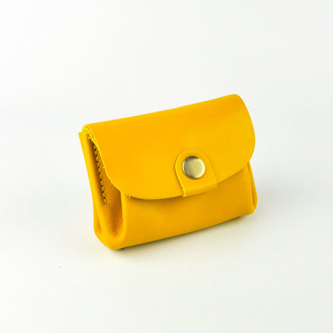 Yellow Leather Coin Purse - Roam