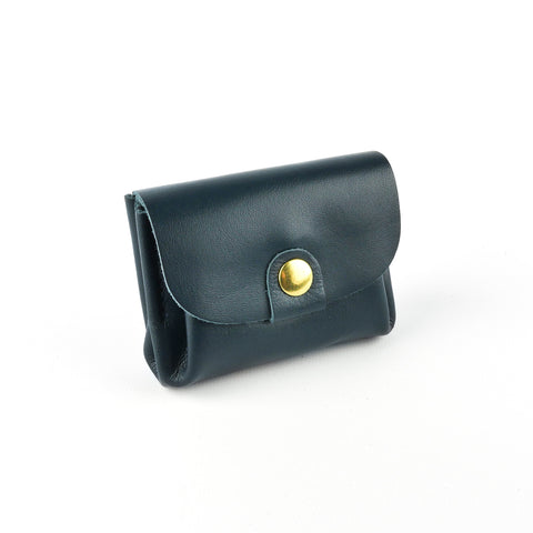Navy Leather Coin Purse - Roam