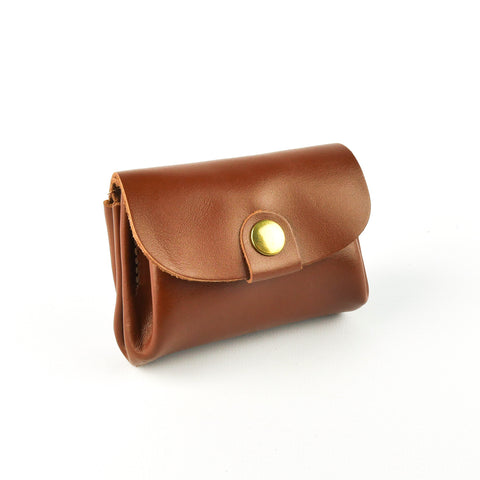 Tan Leather Coin Purse - Roam