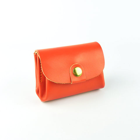 Tangerine Leather Coin Purse - Roam