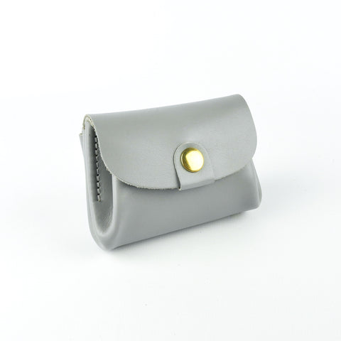 Grey Leather Coin Purse - Roam