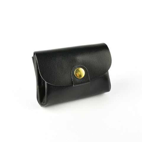 Black Leather Coin Purse - Roam