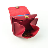 Red Leather Coin Purse - Roam