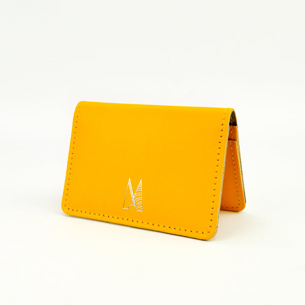 Yellow Leather Card Holder - Chroma