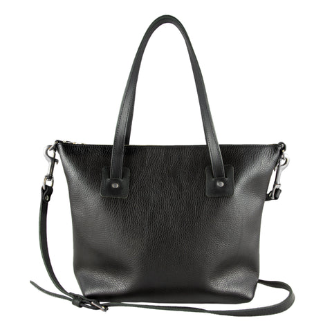 Loretta Large Leather Tote Bag Black