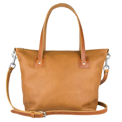 Loretta Large Leather Tote Bag Tan