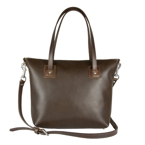 Loretta Large Leather Tote Bag Brown