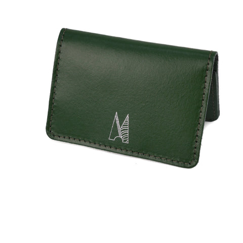 Dark Green Leather Card Holder - Chroma