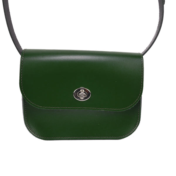 Dark Green Leather Shoulder Bag - Chroma