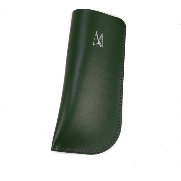 Dark Green Leather Glasses Case - Chroma