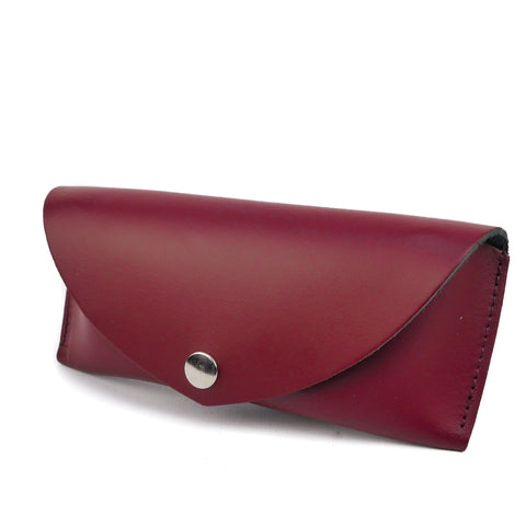 Burgundy Leather Sunglasses Case - Chroma