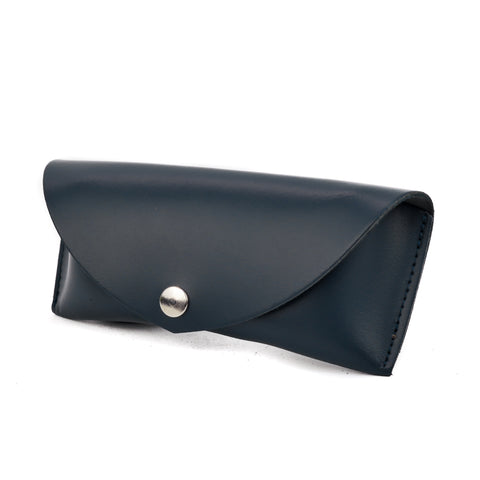 Navy Leather Sunglasses Case - Chroma