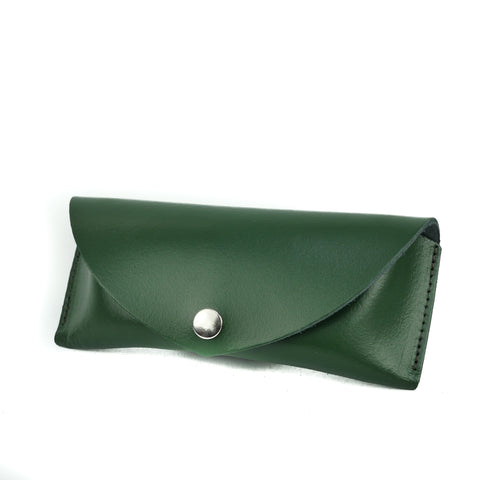 British Racing Green Leather Sunglasses Case - Chroma