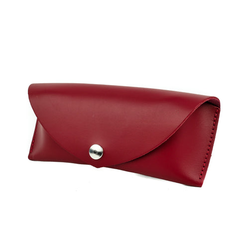 Red Leather Sunglasses Case - Chroma