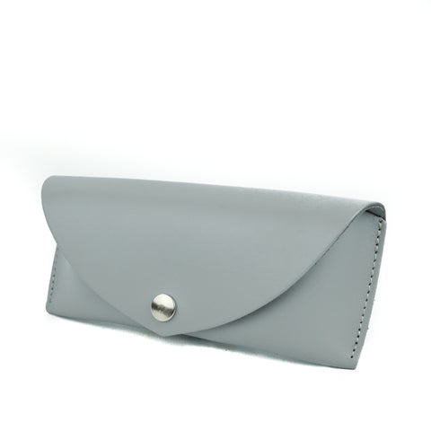 Light Grey Leather Sunglasses Case - Chroma