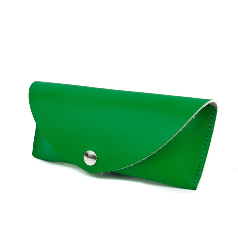 Bright Green Leather Sunglasses Case - Chroma