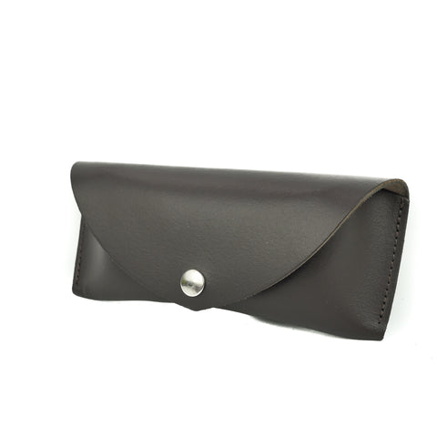 Brown Leather Sunglasses Case - Chroma
