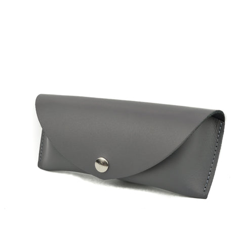 Dark Grey Leather Sunglasses Case - Chroma