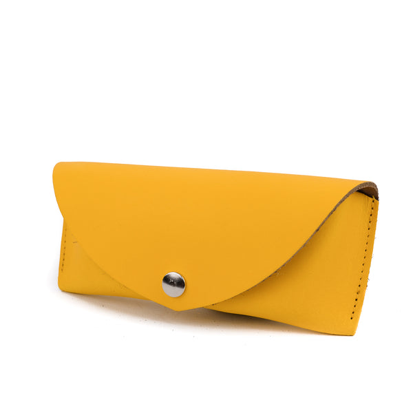 Yellow Leather Sunglasses Case - Chroma