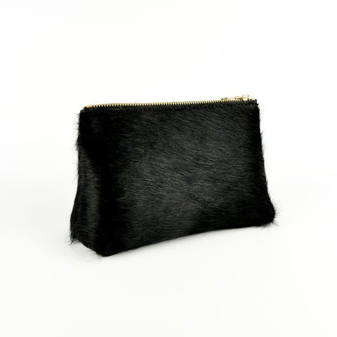 Hair on Hide Travel Pouch Black - Roam