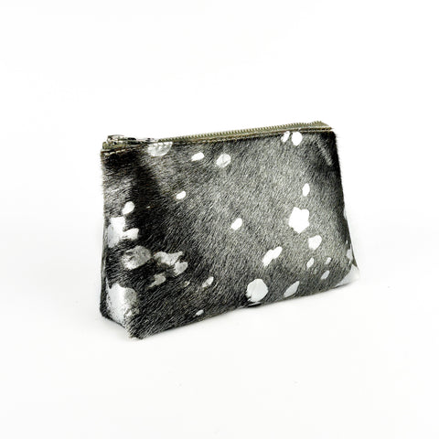 Hair on Hide Travel Pouch Silver Acid Splash - Roam