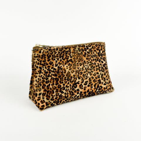Hair on Hide Travel Pouch Mini Leopard - Roam