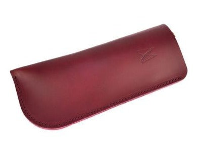 Burgundy Leather Glasses Case - Roam