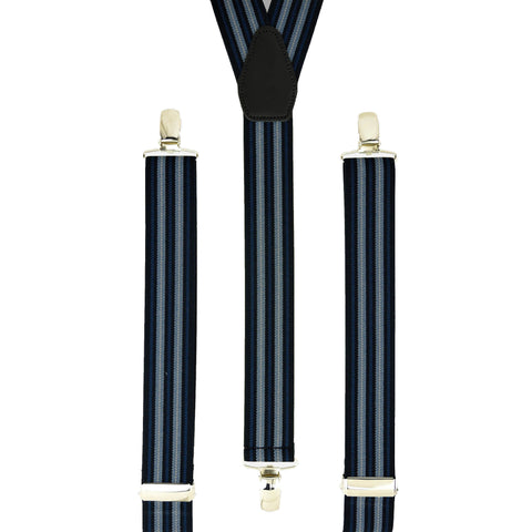 Multi Navy Vertical Stripes
