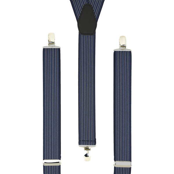 Navy Pin Stripes Trouser Braces