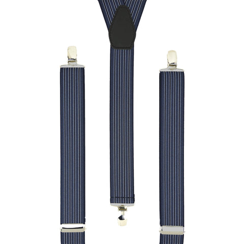 Navy Pin Stripes